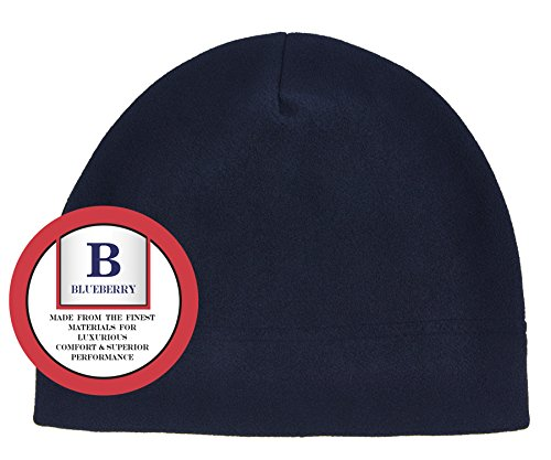 Blueberry Uniforms Navy Fleece Beanie Hat - Ultra Soft, Warm and Lightweight Skully Watch Cap Beanie For Men and Women – by (Cuffed Knit Beanie Cap)