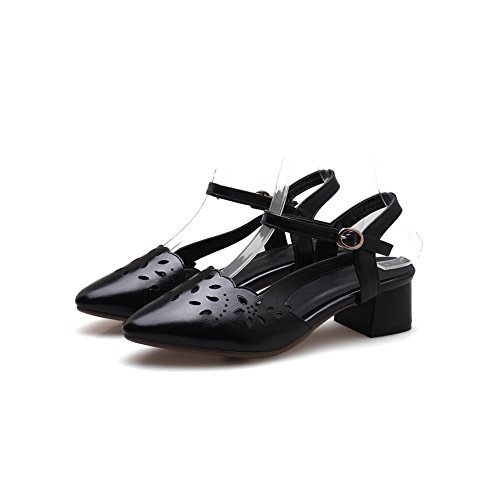 met Sandalen Woman Wedge Black 1to9 vHdTwxq5WT