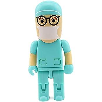 Usbkingdom 8GB USB 2.0 Flash Drive Pen Drive Cartoon Robot Doctor Shape Memory Stick Pendrive