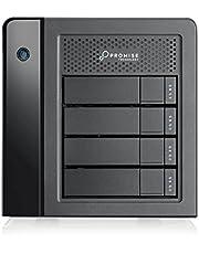PROMISE - Pegasus3 R4 12TB Raid System w/Thunderbolt Cable I Nuovo sistema di archiviazione per utenti Mac I Alta velocita grazie alla tecnoligia Thunderbolt 3 I Protezione e sicurezza Raid - Nero