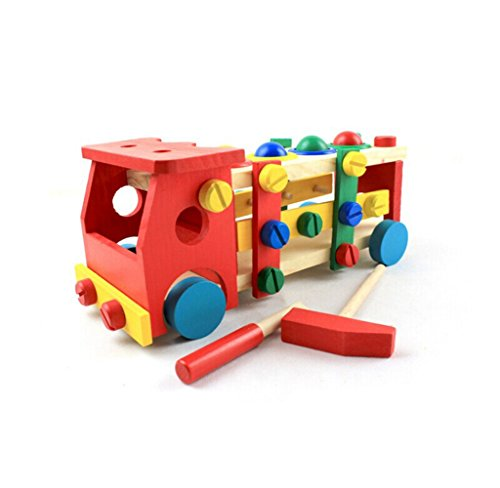 Usstore 1PC Kid Baby Disassembly Screw Nut Vehicle Car Knock Ball Christmas Gift Toy Gift