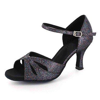 XIAMUO Latein individuelle Damen Sandalen angepasste Ferse mit Buckie Dance Schuhe (weitere Farben), Champagner, US 9 / EU 40/UK7/CN41