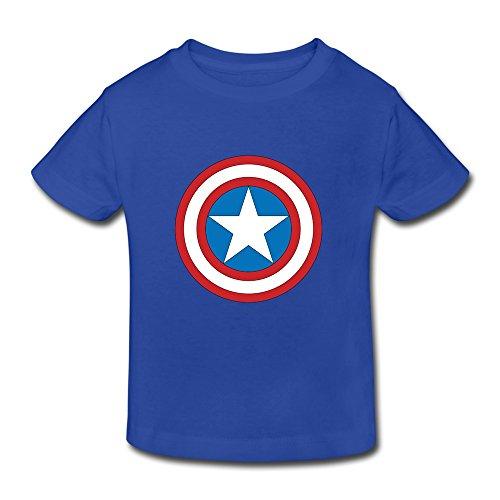 MKSD Nice Captain America Logo Design T-shirt For Kids Toddler