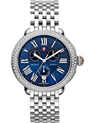 Michele Serein Classic Blue Dial Stainless Steel Ladies Watch MWW21A000026