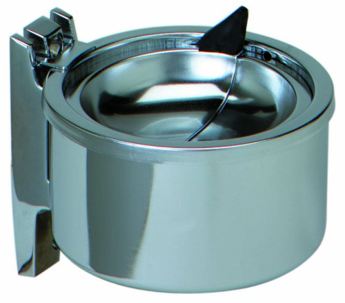 Continental Wall Mount (Continental 132 Aluminum Wall Mount Ash Receptacle, Round, Silver)