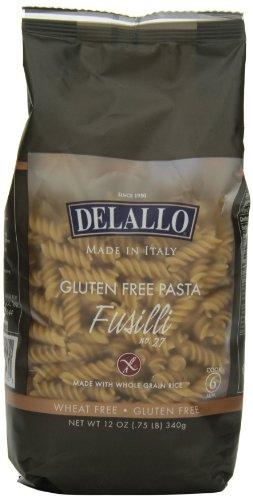 DeLallo Gluten Free Brown Rice, Fusilli, 12 Ounce