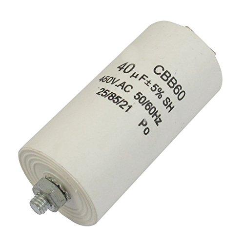 Cbb60 Ac 450V 50 60Hz 40Uf 8Mm Thread Non Polar Polypropylene Film Capacitor