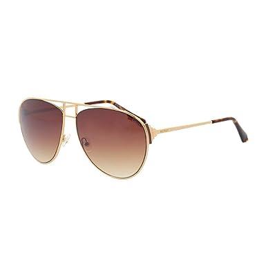 d0fcfa4ef BALMAIN BL 2524 Gold Brown Gradient Tortoise Aviator Metal Sunglasses BL2524