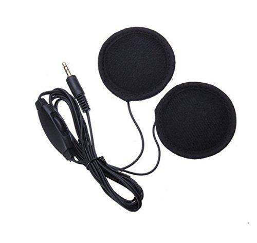 con Control de volumen para MP3/CD XM Radio iPod GPS tel/éfono y m/úsica 3,5/mm Hensych/® altavoces est/éreo y auriculares para casco de motocicleta