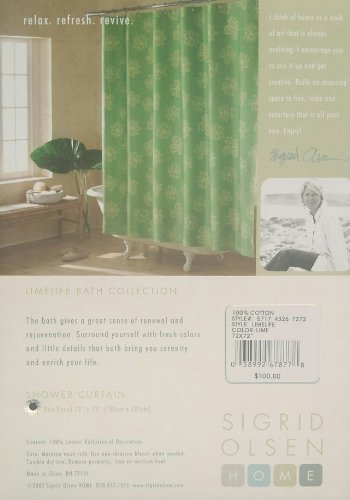 - Green Limelife Shower Curtain by Sigrid Olsen Home