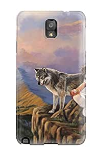 High-end Case Cover Protector For Galaxy Note 3(woman With Wolf)