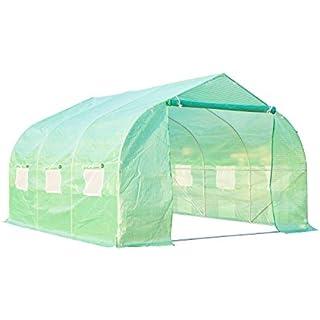 Outsunny 12' x 10' x 7' Portable Walk-In Garden Greenhouse – Deep Green