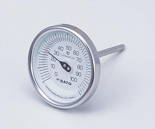 佐藤計量器製作所2-1340-01バイメタル式温度計BM-T-90S50mm260g   B07BD33V22