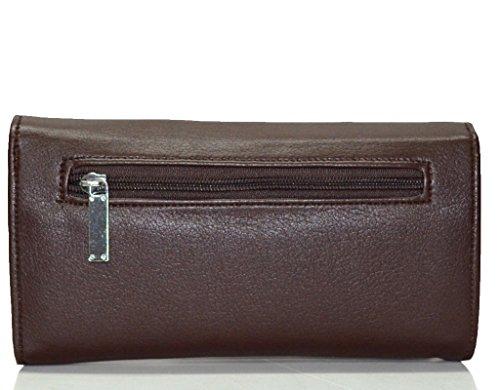 Utsukushii Women/Girls Wallet Clutches(Coffee Brown) (BG512C)