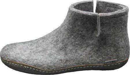 Glerups Model G Grey Wool Boot Slipper, EU 35 M