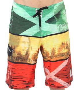 77d3d824f3 Image Unavailable. Image not available for. Colour: BILLABONG Men's Bob  Marley Boardshorts Swim Trunks Platinum X Stretch Rasta Yellow