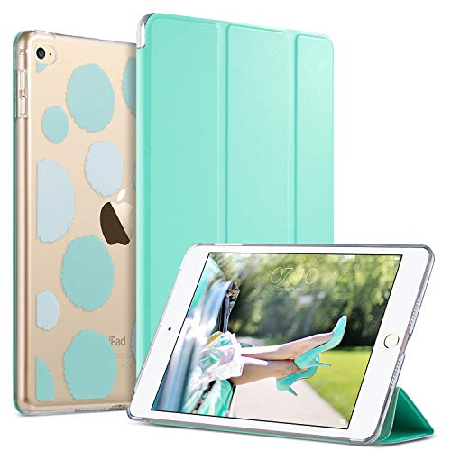 (ULAK iPad Mini 4 Case, Mini 4 Case, Lightweight Slim Smart-Shell Stand Cover with Auto Wake/Sleep Function for Apple iPad Mini 4 7.9 inch 2015 Release Tablet, Mint Green)