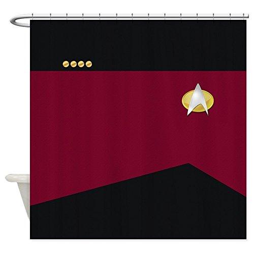 nuohaoshangmao Star Trek: TNG Uniform - Captain - Decorative Fabric Shower Curtain (Star Trek Curtain)