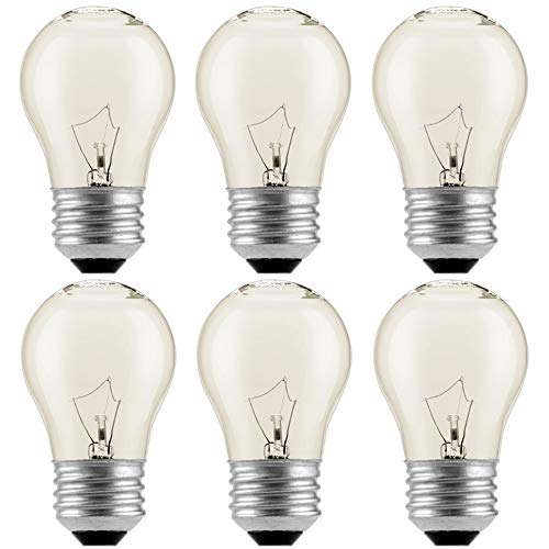 6-PackAppliance Oven Refrigerator Bulbs, Appliance Light Bulb, High Temp - 120v Clear E27/E26 Medium Base,40 Watt,Oven Light Bulb - G45