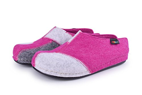 Multi Wool Mulz in and Unisex Shoes Europe Fuchsia Made Slippers Indoor House Outdoor qtH7A