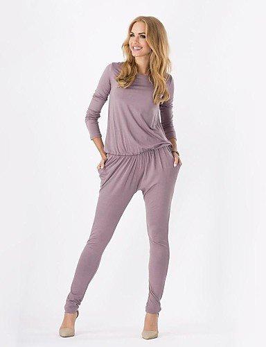 GSP-Frauenseitentaschen elastischer Bund mit langen Ärmeln Overalls mehr Farben lieferbar