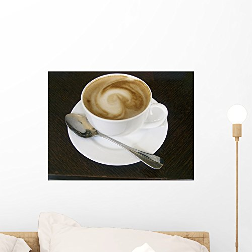 Wallmonkeys FOT-267931-18 WM246264 Cappuccino Peel and Stick Wall Decals (18 in W x 13 in H), Small