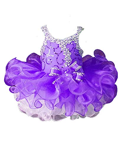 Halloween Pumpkin Decorated Cakes (Beiji Cupcakes Small Girls' Sequins Toddlers Princess Short Pageant Dress 3/3T US)
