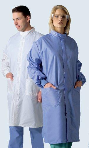 Medline 6620BLHM Unisex ASEP A/S Barrier Lab Coats, Medium, White ()
