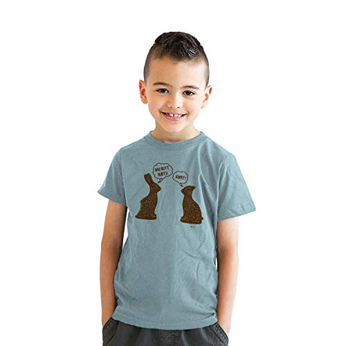 (Youth Butt Hurts T Shirt Funny Easter Shirts Sarcastic Cool Tees for Kids (Blue) -XL)