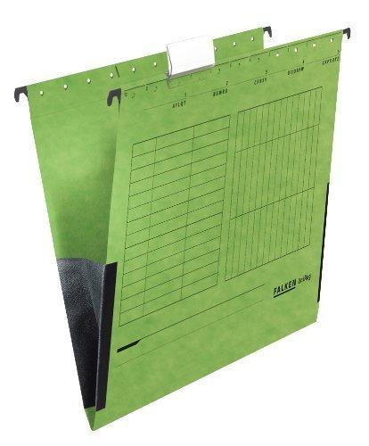 25 FALKEN Hängetaschen UNIREG / grün / DIN A4 / 230 g/m²