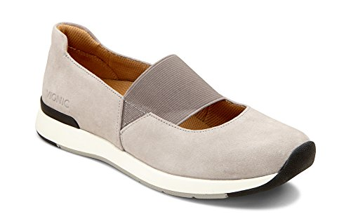 Vionic Women's Cosmic Cadee Mary Jane - Ladies Casual Walking Shoes with Concealed Orthotic Arch Support Light Grey 11 M US
