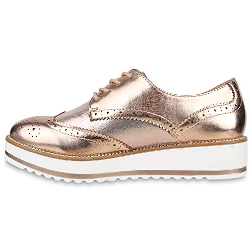 Gold Stiefelparadies femme femme Rose Gold Brogue Rose Brogue Stiefelparadies 1wZ1Sd