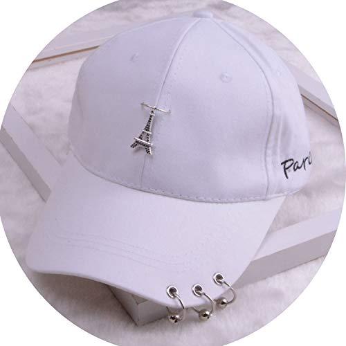 女性 リング野球帽 男性女性 白黒 野球の帽子,エッフェル塔白
