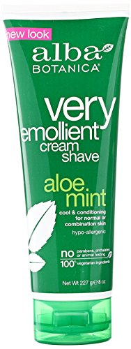 Alba Botanica, Moisturizing Cream Shave, Aloe Mint, 8 (Mint Shaving Cream)