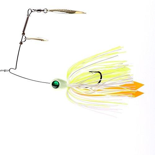Tandem Spinner - Kingdomfishing Bait Tandem & Willow Blade Spinner Swimbaits Fishing Skirt Jig Lure for Bass