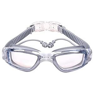 NewKelly Anti-fog Swimming Goggles, Men Women Adult Swimming Glasses With Ear Plug (G)