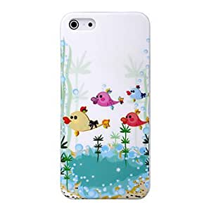 conseguir Patrón de caso desviación de dibujos animados feliz peces pc material de alta calidad duro para el iphone 5/5s