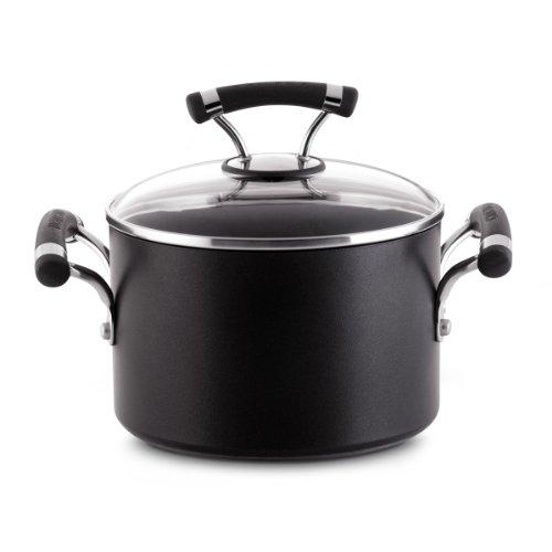 Circulon Contempo 3-Quart Covered Saucepot, Black