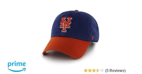 b5bcf42b0 Amazon.com : MLB New York Mets '47 Brand Clean Up Two Tone Adjustable Cap,  One Size, Royal : Sports Fan Baseball Caps : Clothing
