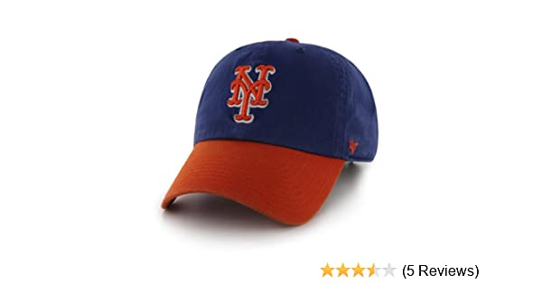1f6c2b6d58f0f Amazon.com   MLB New York Mets  47 Brand Clean Up Two Tone Adjustable Cap