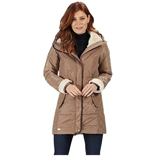 chollos oferta descuentos barato Regatta Patchouli Water Repellent Thermo Guard Insulated Faux Fur Leatherette Trim Fashion Hooded Winter Jacket Chaquetas Acolchadas Mujer Toffee 8