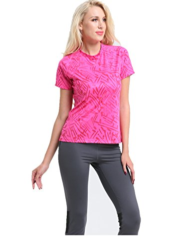 SUNPOTEX Yoga Shirts,Activewear Running Workouts Clothes Racerback Tops Short Sleeves Women