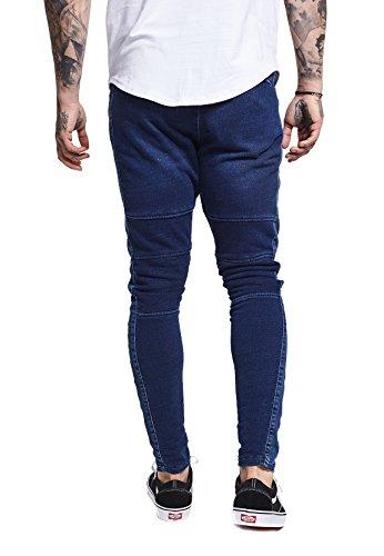 denim Silk Sik Low Skinny Blu Uomo Rise Jeans fnZnx6
