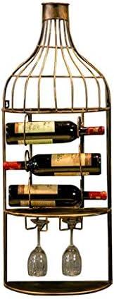ワインラック ワインホルダー 棚のシャンパンのワイン・ボトルのホールダーが付いている壁に取り付けられた金属のレトロの産業ワインの貯蔵の棚