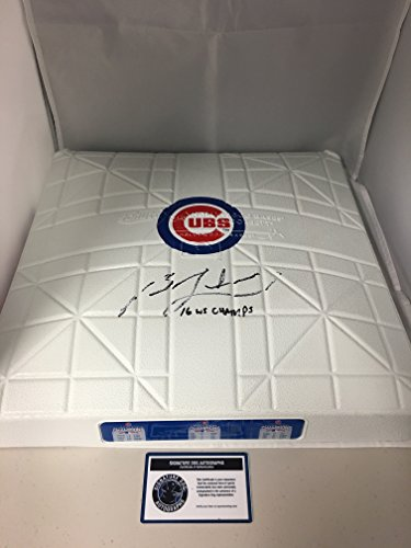 Ben Zobrist Autographed Signed Chicago Cubs Rare Custom Authentic World Series Champions Base Comes With COA & Hologram and Photo From Signing from Signature Dog Autographs