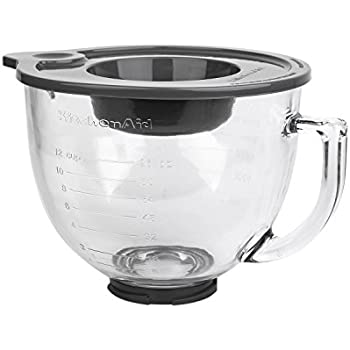 Kitchen 4.8 L Glass Bowl with Handle,Graduated line and Lid,Whirlpool (hyaline)