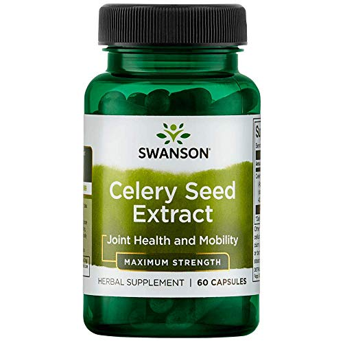 Swanson Celery Seed Extract (Cellery) Urinary Health Antioxidant Support Phytochemicals Volatile Oils Supplement Maximum Strength 150 mg 60 Capsules