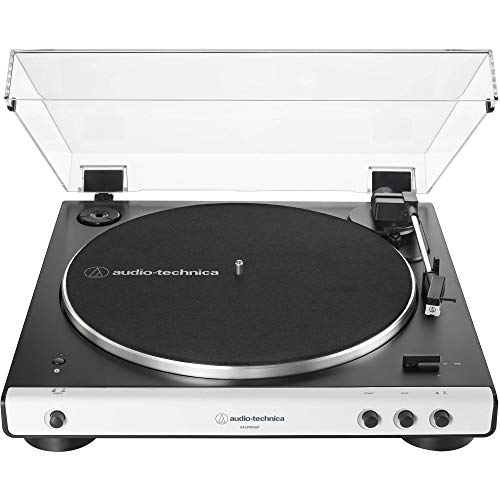 Audio Technica AT-LP60WH-BT Fully Automatic Bluetooth Wireless Belt-Drive Stereo Turntable