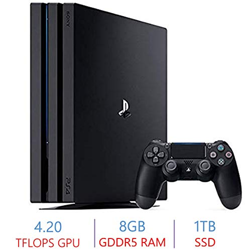 Sony PlayStation 4 PS4 Pro 1TB SSD Console | 4K-TV Gaming | High Dynamic Range | AMD Eight-Core x86-64 Jaguar Processor | AMD Radeon 4.2 Teraflops Graphics | 8GB GDDR5 RAM | 2160p Resolution