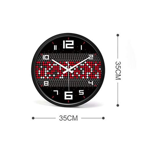 Reloj de Pared Silent Silent Wall Clock Reloj Digital de Pared silencioso de 14 Pulgadas con escaneo silencioso (Color : B): Amazon.es: Hogar